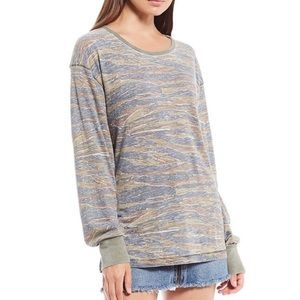 NEW FREE PEOPLE ARIELLE CAMO TIGER PRINT TOP Small
